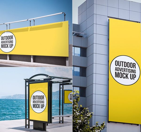 12 city outdoor mock up for advertising designs. You can find any format of city advertising. Billboard, city light poster, mega light, wall etc. areas to replace your own designs. Also all PSD files fully layered and well organized. You can play with ref